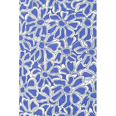 Handmade Blue Indoor/Outdoor Area Rug Rug Size: 5' x 8'