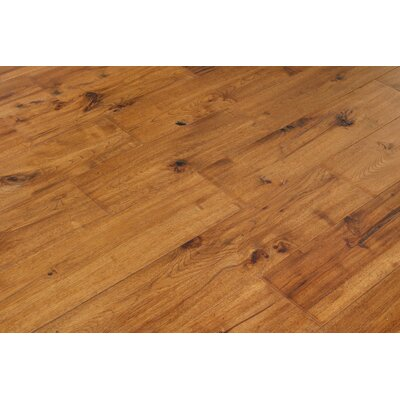 Alpine Trail 7 Inch Engineered Hickory Wide Plank Flooring in Ember Brown