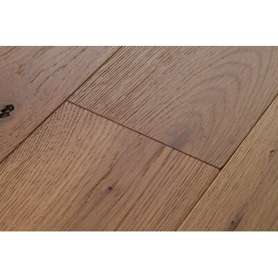 Beach Cove White Oak 7 Inch Wide Plank Flooring in Fossil Brown