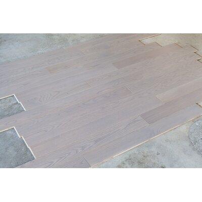 Rivers Edge White Oak 5 Inch Wide Plank Flooring in Washout Grey
