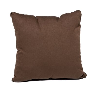 Outdoor Throw Pillow Color: Cocoa