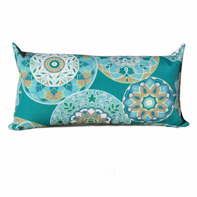 Teal Sundial Outdoor Lumbar Pillow