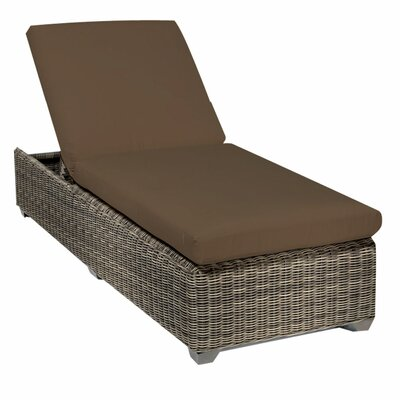 Cape Cod Chaise Lounge with Cushion Fabric: Cocoa