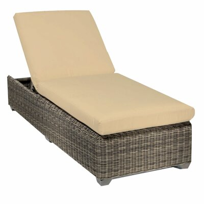 Cape Cod Chaise Lounge with Cushion Fabric: Sesame