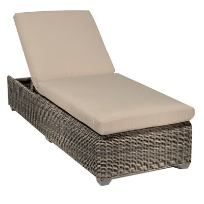 Cape Cod Chaise Lounge with Cushion Fabric: Wheat
