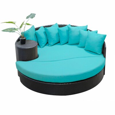 Newport Circular Sun Daybed with Cushions Fabric: Aruba