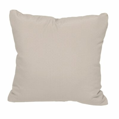 Outdoor Throw Pillow Color: Beige
