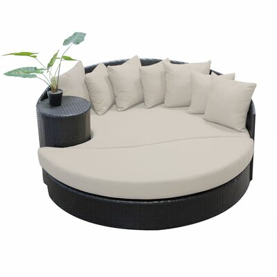 Newport Circular Sun Daybed with Cushions Fabric: Beige