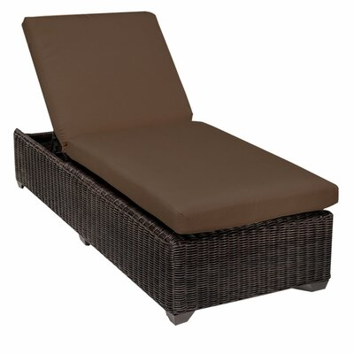Venice Chaise Lounge with Cushion Fabric: Cocoa