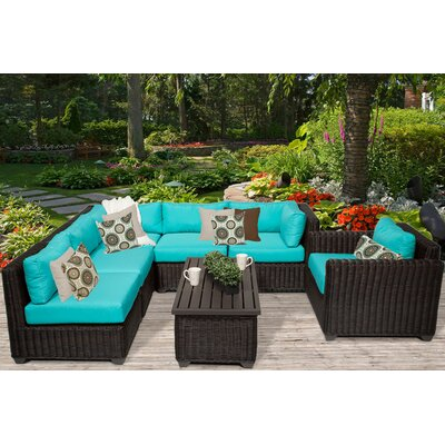 Venice 7 Piece Sectional Seating Group with Cushion Fabric: Aruba