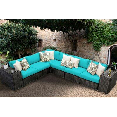 Venice 8 Piece Sectional Seating Group with Cushion Fabric: Aruba