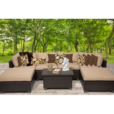 Belle 7 Piece Sectional Seating Group with Cushion Fabric: Wheat