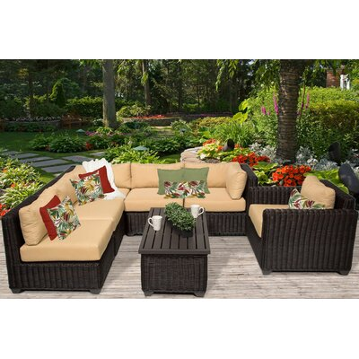 Venice 7 Piece Sectional Seating Group with Cushion Fabric: Sesame