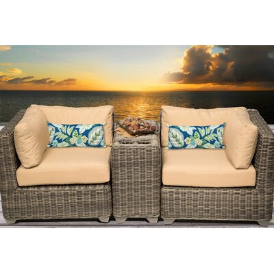 Cape Cod 3 Piece Deep Seating Group with Cushion Fabric: Sesame