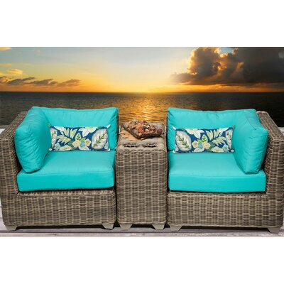 Cape Cod 3 Piece Deep Seating Group with Cushion Fabric: White