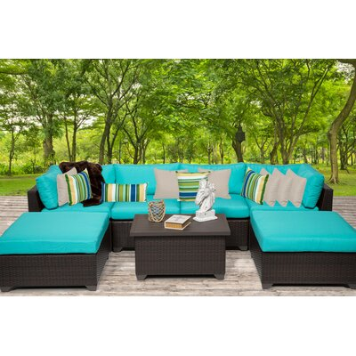 Belle 7 Piece Sectional Seating Group with Cushion Fabric: Aruba
