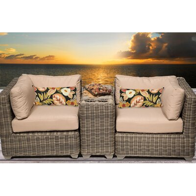 Cape Cod 3 Piece Deep Seating Group with Cushion Fabric: Wheat