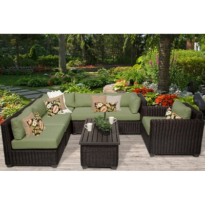 Venice 7 Piece Sectional Seating Group with Cushion Fabric: Cilantro