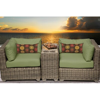 Cape Cod 3 Piece Deep Seating Group with Cushion Fabric: Cilantro