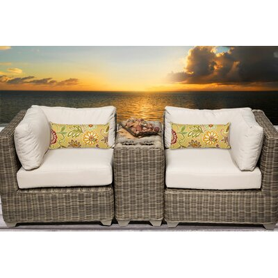 Cape Cod 3 Piece Deep Seating Group with Cushion Fabric: Beige