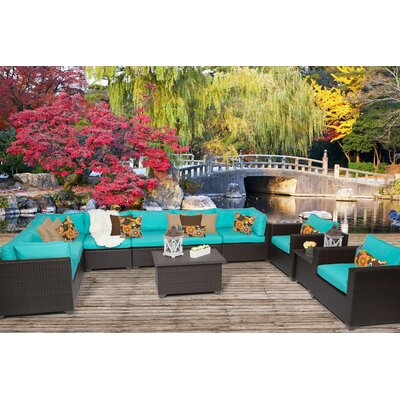 Belle 11 Piece Sectional Seating Group with Cushion Fabric: Aruba