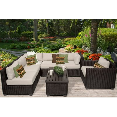 Venice 7 Piece Sectional Seating Group with Cushion Fabric: Beige