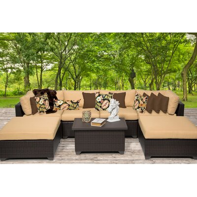 Belle 7 Piece Sectional Seating Group with Cushion Fabric: Sesame