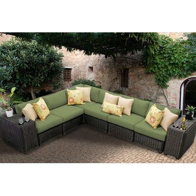 Venice 8 Piece Sectional Seating Group with Cushion Fabric: Cilantro
