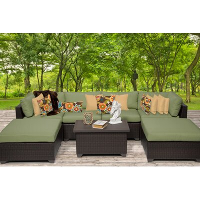 Belle 7 Piece Sectional Seating Group with Cushion Fabric: Cilantro