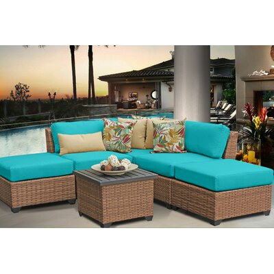 Laguna 6 Piece Sectional Seating Group with Cushion Fabric: Aruba