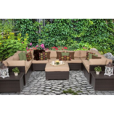 Belle 12 Piece Sectional Seating Group with Cushion Fabric: Wheat