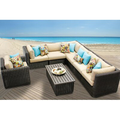 Venice 8 Piece Sectional Seating Group with Cushion Fabric: Wheat