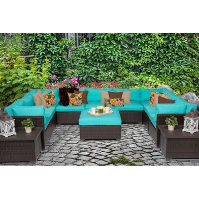 Belle 12 Piece Sectional Seating Group with Cushion Fabric: Aruba