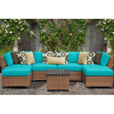 Laguna 7 Piece Sectional Seating Group with Cushion Fabric: Aruba