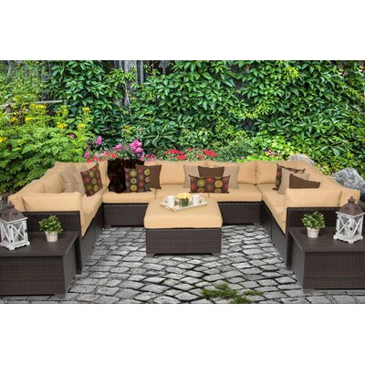 Belle 12 Piece Sectional Seating Group with Cushion Fabric: Sesame
