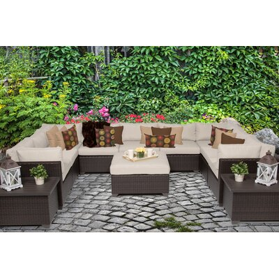 Belle 12 Piece Sectional Seating Group with Cushion Fabric: Beige