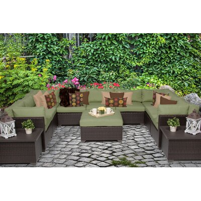 Belle 12 Piece Sectional Seating Group with Cushion Fabric: Cilantro