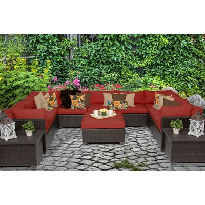 Belle 12 Piece Sectional Seating Group with Cushion Fabric: Terracotta