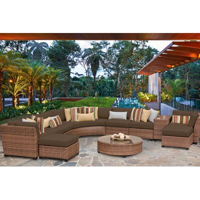 Laguna 11 Piece Sectional Seating Group with Cushion Fabric: Cocoa