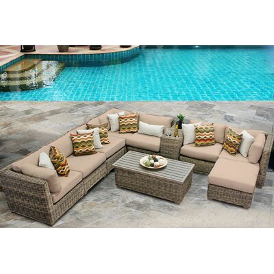 Cape Cod 10 Piece Sectional Seating Group with Cushion Fabric: Wheat