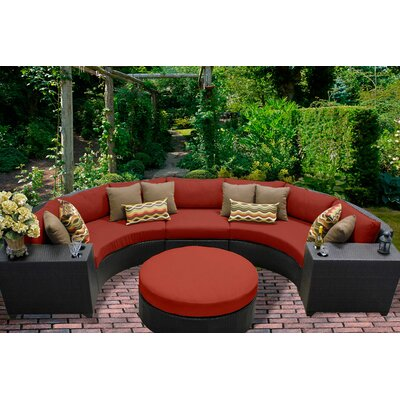 Barbados 6 Piece Sectional Seating Group with Cushion Fabric: Terracotta