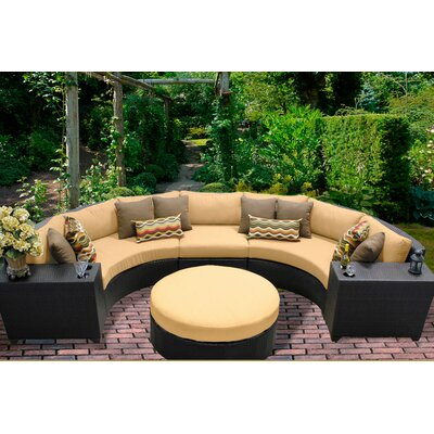 Barbados 6 Piece Sectional Seating Group with Cushion Fabric: Sesame