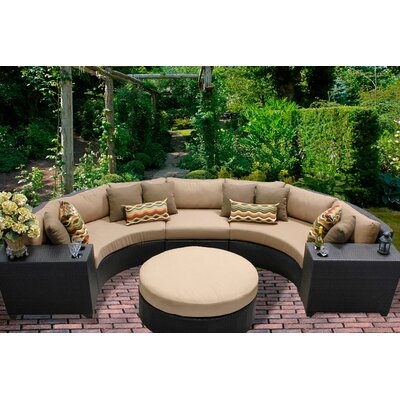 Barbados 6 Piece Sectional Seating Group with Cushion Fabric: Wheat