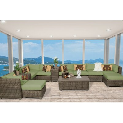 Cape Cod 13 Piece Sectional Seating Group with Cushion Fabric: Cilantro