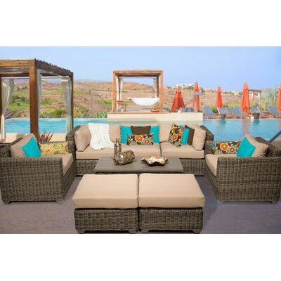 Cape Cod 8 Piece Deep Seating Group with Cushion Fabric: Wheat