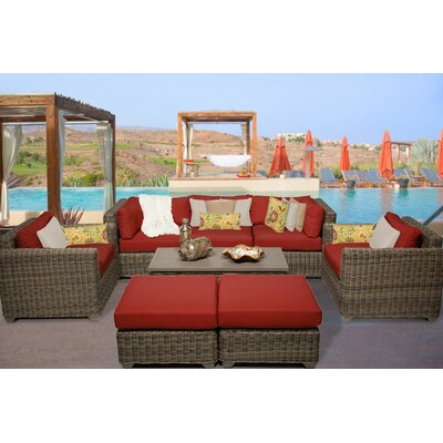 Cape Cod 8 Piece Deep Seating Group with Cushion Fabric: Terracotta