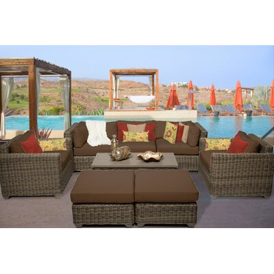 Cape Cod 8 Piece Deep Seating Group with Cushion Fabric: Cocoa