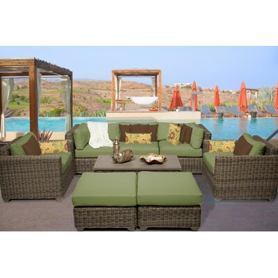 Cape Cod 8 Piece Deep Seating Group with Cushion Fabric: Cilantro