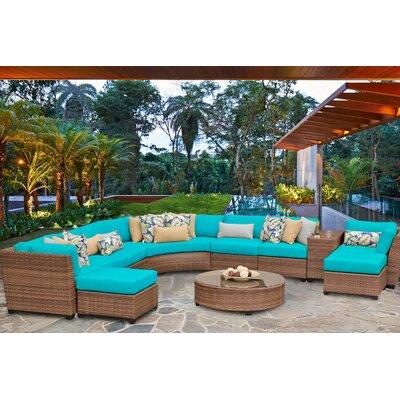 Laguna 11 Piece Sectional Seating Group with Cushion Fabric: Aruba