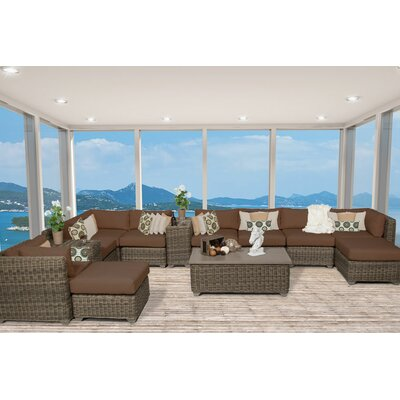 Cape Cod 13 Piece Sectional Seating Group with Cushion Fabric: Cocoa